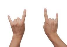 Rock hands Stock Images