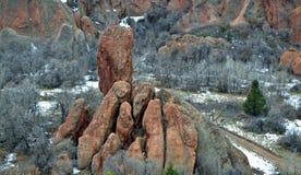 Rock Hands. Roxborough Park outside of Denver, Colorado royalty free stock photo