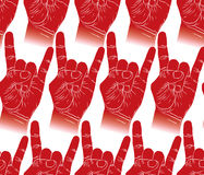 Rock hands seamless pattern, rock, metal, rock and roll music st Royalty Free Stock Photos
