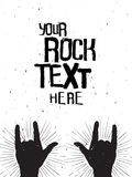 Rock hands silhouettes on a concert,grunge template for your text. Rock hands silhouettes on a concert , grunge template for your slogan, text or announcement Royalty Free Stock Images