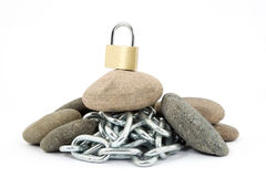Rock hard security Stock Photo