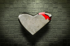 Rock heart. An hard rock heart covered a lover pulse heart Royalty Free Illustration