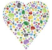 Rock heart Stock Image