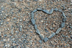 Rock Heart Shape Stock Photography