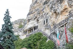 Rock-hewn Churches of Ivanovo, Bulgaria. Rock-hewn Churches of Ivanovo are a group of monolithic churches, chapels and monasteries hewn out of solid rock and royalty free stock photo