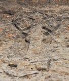 Rock hewn Ethiopian Christian cross. In Tigray region of Ethiopian Royalty Free Stock Photos