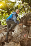 Rock hiking a Royalty Free Stock Image