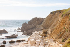 Rock Hill on coast line. In Portugal Stock Photography