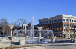 Rock Hill Fountain Park in SC Stock Photography