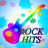 Rock Hits Indicates Music Charts And Acoustic Royalty Free Stock Photography