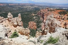 Rock Hoodoos in Bryce Canyon National Park in Utah Royalty Free Stock Photography