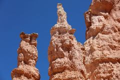 Rock Hoodoos in Bryce Canyon National Park in Utah Royalty Free Stock Image