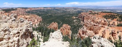 Rock Hoodoos in Bryce Canyon National Park in Utah Royalty Free Stock Images