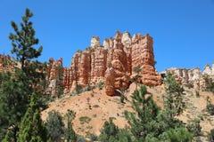 Rock Hoodoos in Bryce Canyon National Park in Utah Royalty Free Stock Images