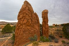 Rock Hoodoos in Devils Garden Escalante Utah Royalty Free Stock Photo