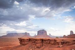 Rock without horse in Monument valley Royalty Free Stock Image