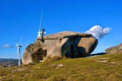 Rock house in Fafe mountains Stock Image