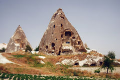 Rock houses in Cappadocia / Turkey Royalty Free Stock Images