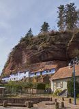 Rock houses in Graufthal Royalty Free Stock Image