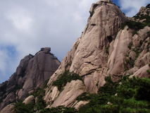 The rock of Huangshan in China. The scenery of Huangshan in China and it is beautifual place Royalty Free Stock Photo