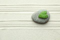 Rock i sand royaltyfri fotografi