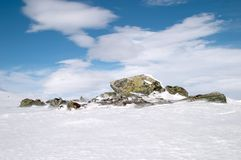Rock ice snow stock photography