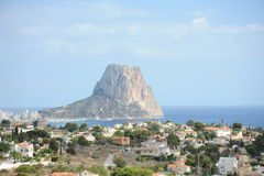 Rock of Ifach. The Rock of Ifach in Calpe, Spain Stock Photos