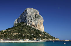 The Rock of Ifach, Calpe, Alicante. Royalty Free Stock Photography
