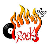 Rock illustration Stock Images