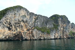 Rock island in Andaman Sea Royalty Free Stock Photo