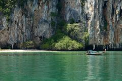 Rock island in Andaman Sea Stock Image