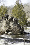 Rock Island 1. Another view of the rock island on the Grasse river Royalty Free Stock Image