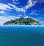 Rock island with beautiful clear sea water destination in summer Royalty Free Stock Photo