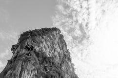Rock island. Isolate rock island Stock Photography