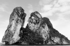 Rock island. Isolate rock island stock image