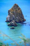 Rock Island On Monterey California Coast Royalty Free Stock Photo