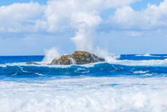 Rock Island. In the ocean royalty free stock photo