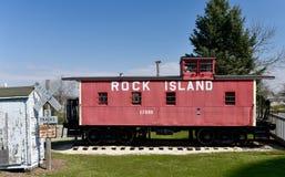 Rock Island Railroad Caboose Stock Image