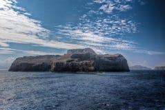 Rock island sea sky, Balos, Gramvousa, Crete Greece Stock Photography