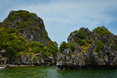 Rock island in Thailand. Beautiful island in Chumphon, Thailand Stock Image