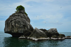 Rock island in Thailand. Beautiful rock island in Chumphon, Thailand Stock Photos