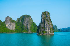 Rock islands in Halong bay Stock Photo
