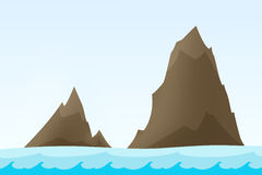 Rock islands illustration Royalty Free Stock Photography