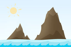 Rock islands illustration Stock Photo