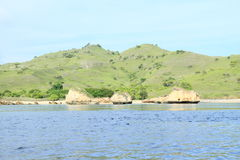 Rock isles by Padar Island Royalty Free Stock Photo