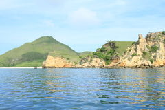 Rock isles by Padar Island Royalty Free Stock Photos