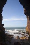 Rock on Jericoacoara Beach Royalty Free Stock Photo