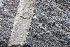 Rock joint. The close-up of Vein-shaped Intrusive Structure Stock Image