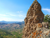 Rock in the Karadag mountain National park, Crimea Royalty Free Stock Photography