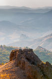 Rock in Karadag National park near Koktebel Royalty Free Stock Images